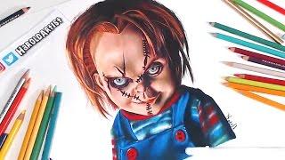 Dibujo de Chucky El muñeco diabolico - Especial Halloween - speed drawing
