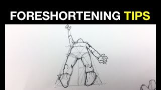 Simple tips on how to draw people in perspective: Foreshortening Pt 2
