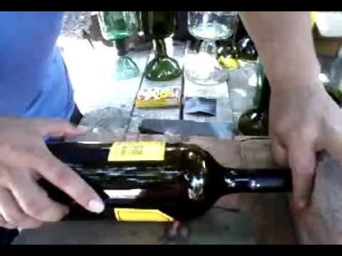 Como hacer copas con botellas de vidrio youtube - Como cortar botellas de vidrio ...