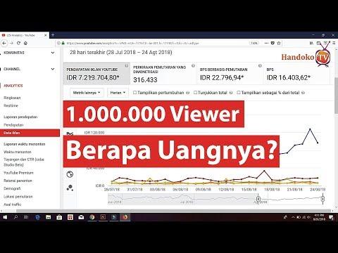Berapa Uang Yang Kita Dapatkan Dari 1000000 Viewer  Motivasi YouTuber