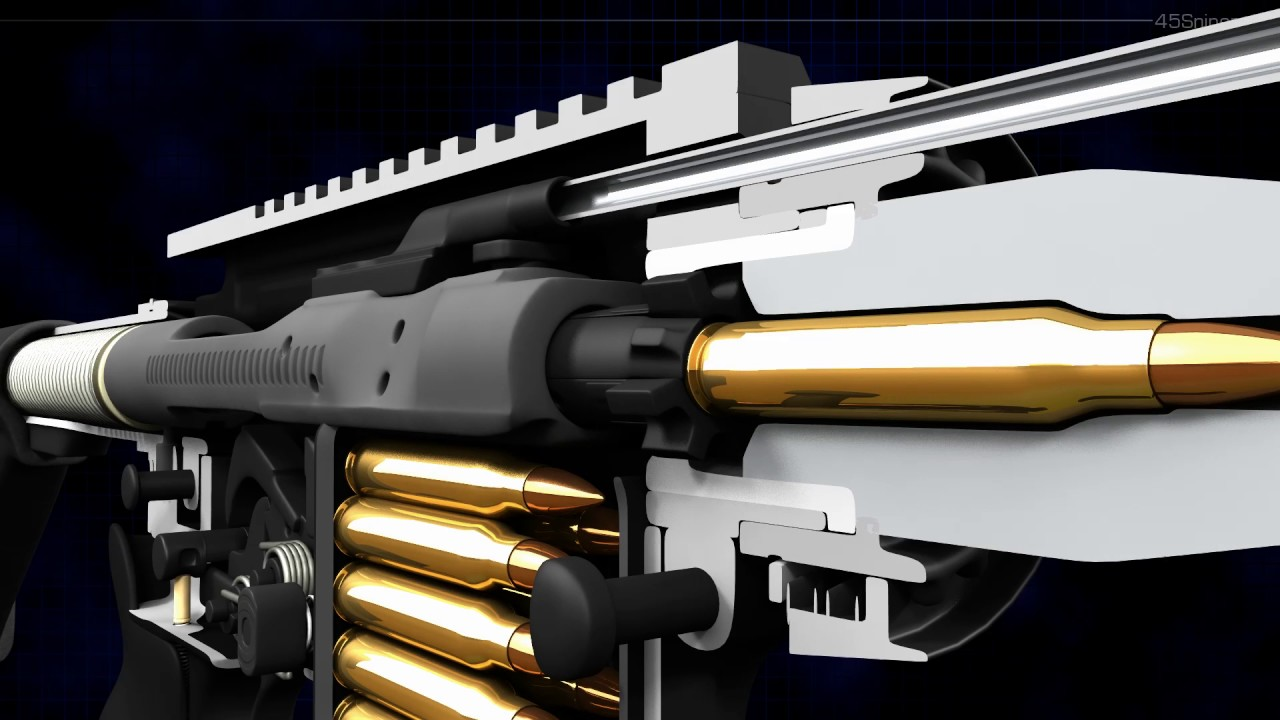 3D Animation Shows How an AR-15 Semi-Automatic Rifle Works