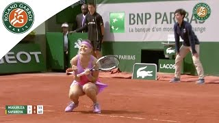 Lucie Safarova v Garbine Muguruza Highlights - Women