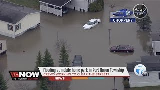 Flooding at mobile home park in Port Huron Township