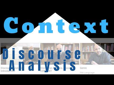 Class 2: Discourse Analysis - ON CONTEXT