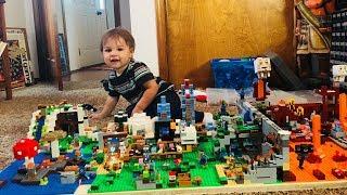 Baby Destroys Lego Minecraft World Moc!