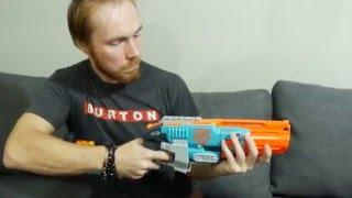 Распаковка игрушка ружье Зомби Страйк - NERF Zombie Strike Sledgefire