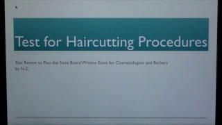 Cosmetology (37): Test for Haircutting Theory