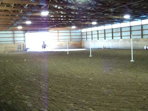 Pole Bending at dittmer stables