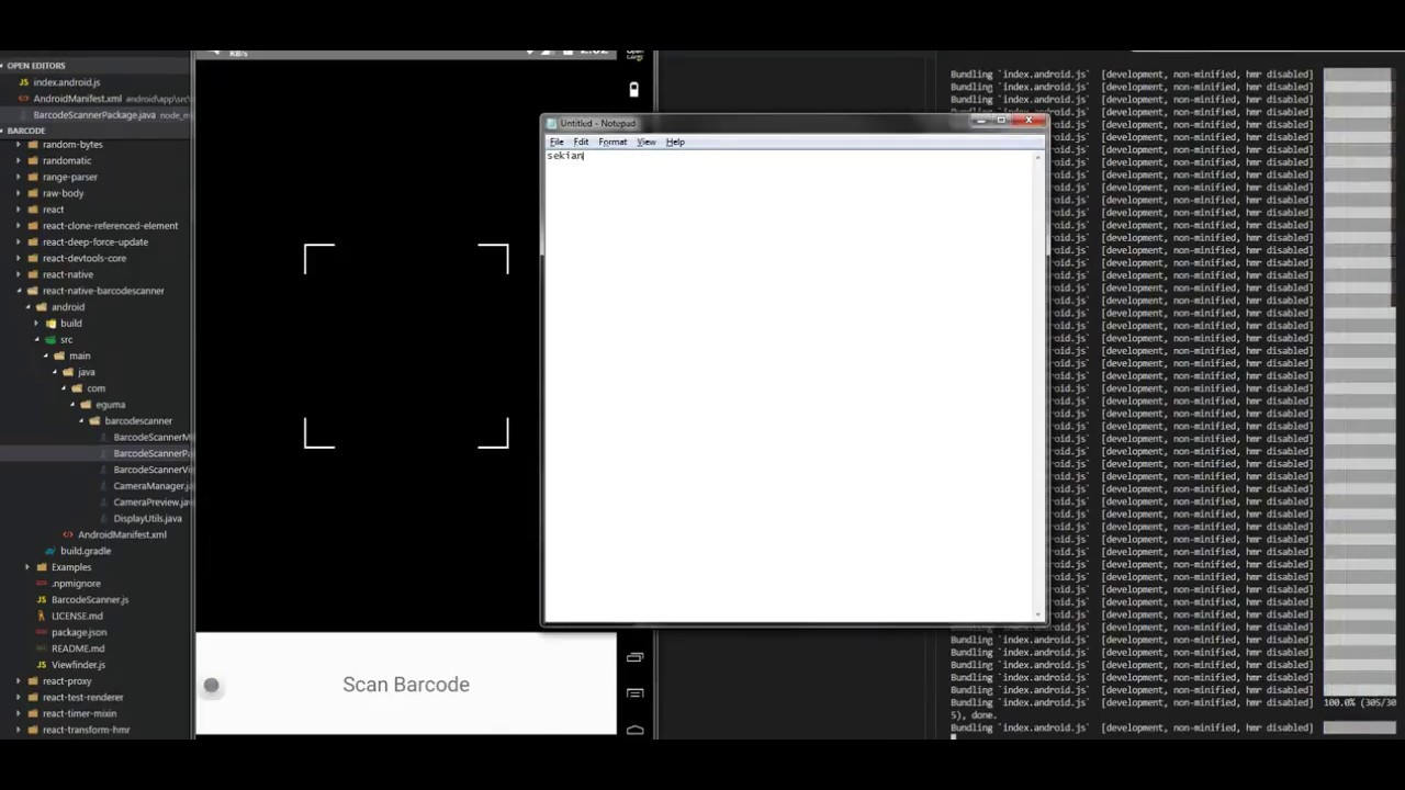 react-native-barcodescanner | Setup