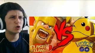 React 22 - Pokémon GO VS. Clash of Clans | Duelo de Titãs ( 7 Minutoz )