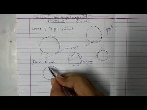 Chapter 10 Circles Introduction and Ex- 10.1 (Q1 Q2) || NCERT|| Maths class 10