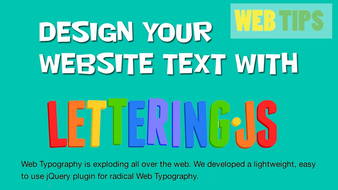 style your text with lettering.js html jquery tutorial in ...