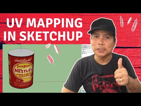 How To Apply UV Mapping In Sketchup By Using SketchUV Plugin