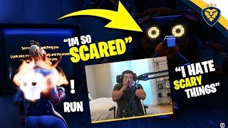COURAGE TERRIFIED PLAYING A FORTNITE HORROR MAP! *JUMP SCARES* (Fortnite: Battle Royale)