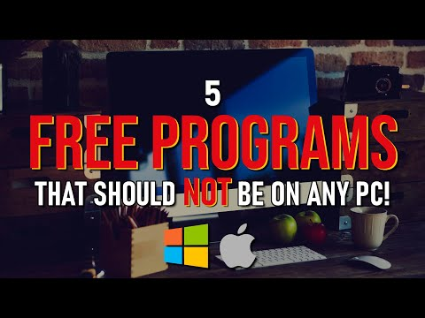 5 FREE PROGRAMS That Should NEVER Be On ANY PC!