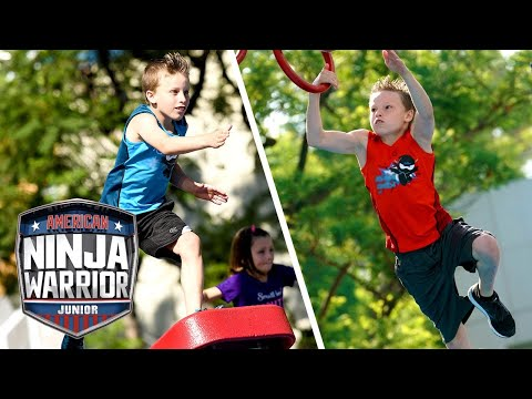 Myler Bros (Ninja Kidz TV) Conquer the Course! (S1 E13) | TOP 5 RUNS | American Ninja Warrior Junior