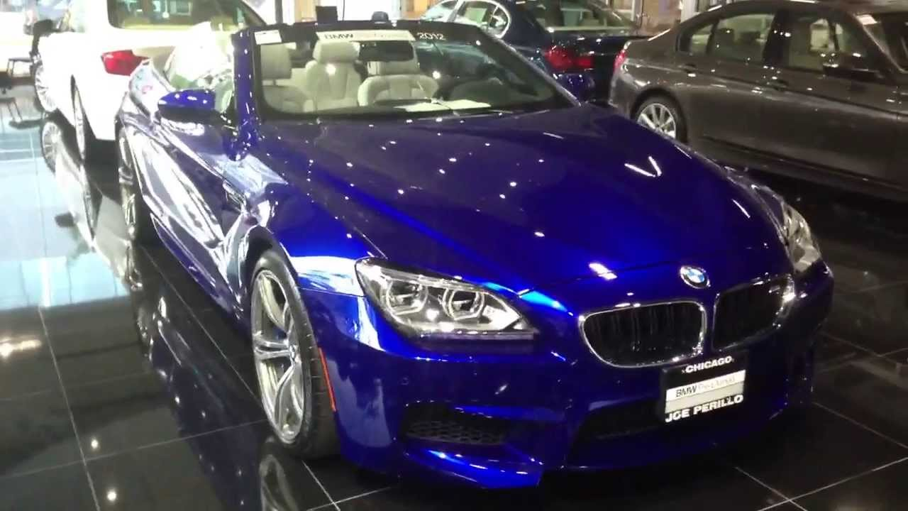 2012 bmw m6 convertible san marino blue metallic with. Black Bedroom Furniture Sets. Home Design Ideas