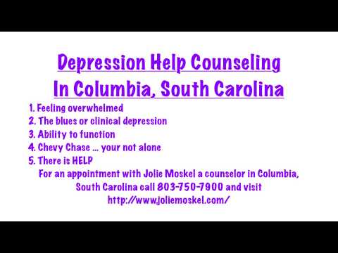 Depression Help Counseling In Columbia, South Carolina - Jolie Moskel