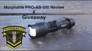 Giveaway Closed - Morphalite PRO-AB-500 FlashLight Review - Giveaway