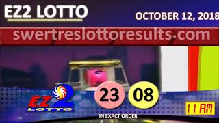 LOTTO RESULT OCTOBER 12 2018 Digit Draw - Swertres, Ez2 and STL Results