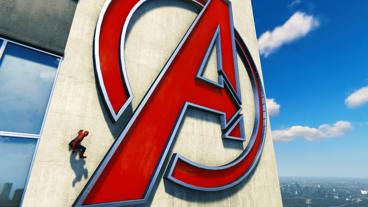 marvel s spider man ps4 climbing the avengers tower youtube