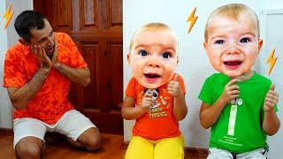 Аня и папа весело играют с игрушками. Сборник лучших видео
