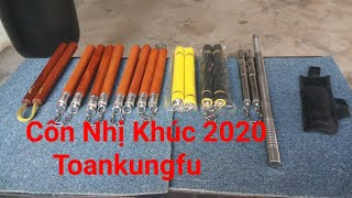 Côn Nhị Khúc 2020 Toankungfu|côn inox,côn gỗ căm xe.