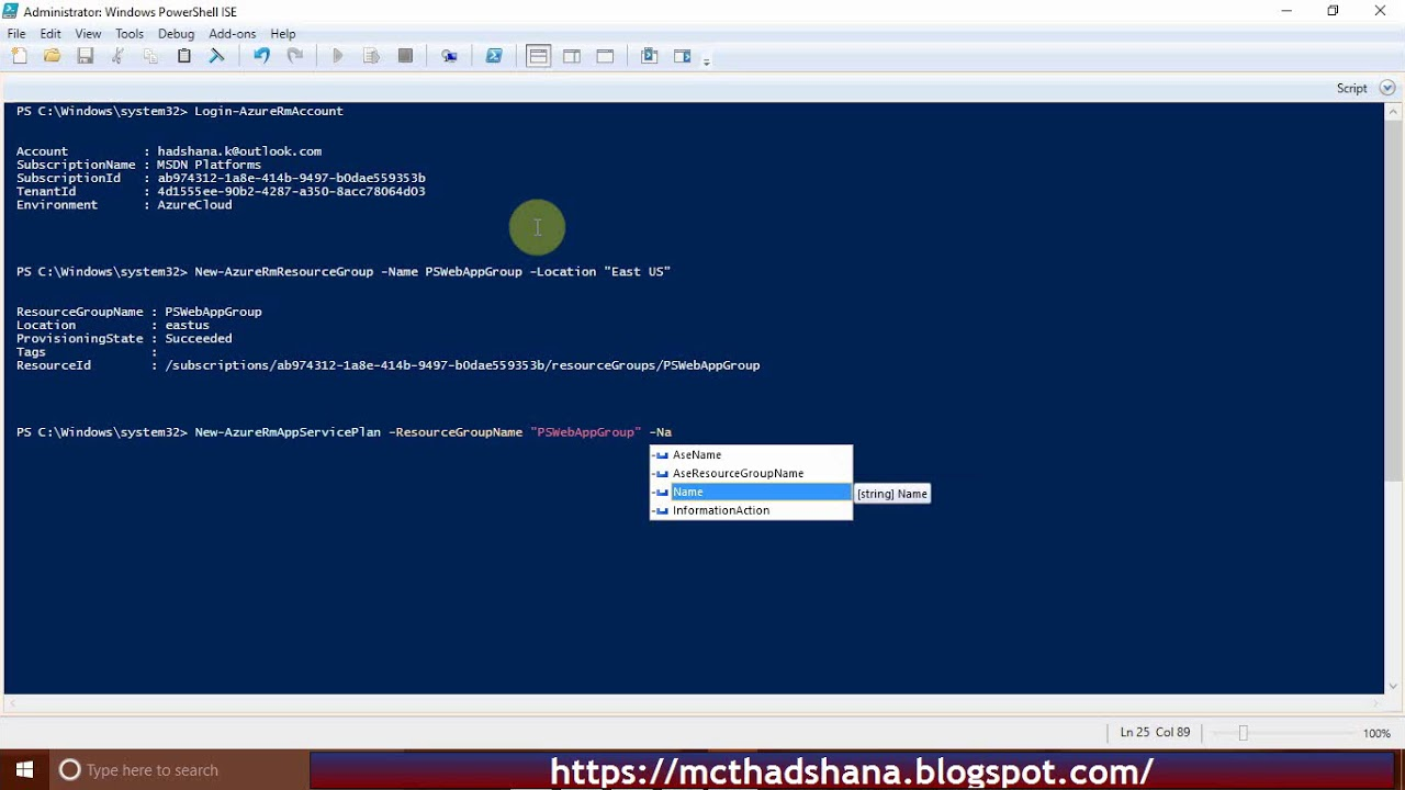 How to Create Web App using PowerShell