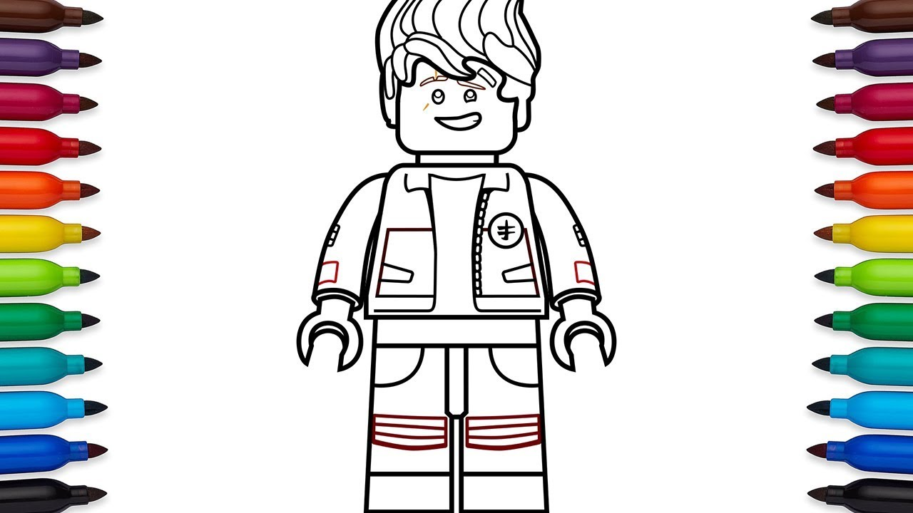 How To Draw Lego Ninjago Kai High School Outfit From The Movie Kids Fun Factory Entertainment