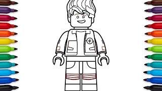 How to draw Lego Ninjago Kai (high school outfit) from the Lego Ninjago Movie