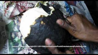 How to Roast Breadfruit on the stove top. (Jamaica Tradition).