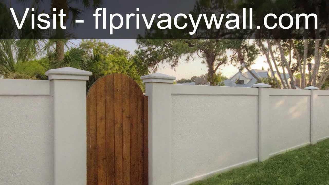 Precast Concrete Fence Walls for Dallas, Texas Installed