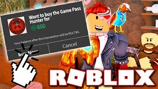 BUYING HUNTER GAME PASS!! *EXCLUSIVE ITEMS!* (Roblox Murder Mystery X)