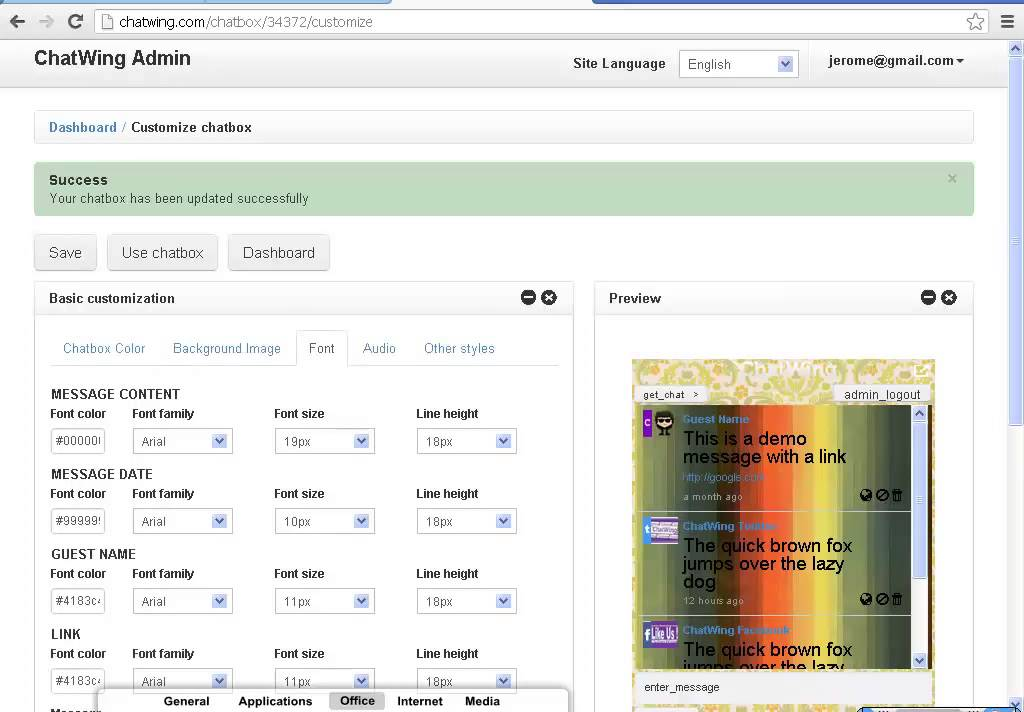 shoutbox chatwing php script