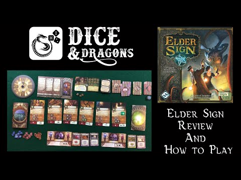 Dice and Dragons -  Halloween Special Elder Sign Review and How to Play