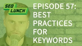 Best Practices to Put Keywords in a Blog Post - SEO Lunch