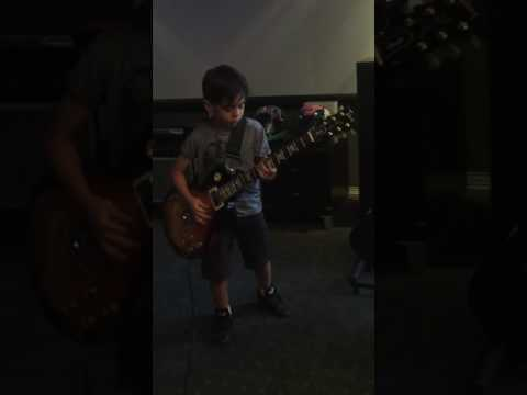 The video GunsNRoses shared…Nightrain. GNRcoversong by Jayden Tatasciore 8 years old