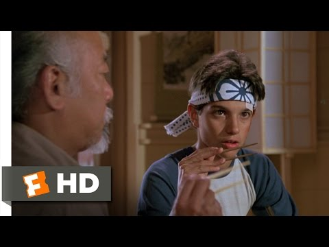 The Karate Kid (4/8) Movie CLIP - Catching A Fly With Chopsticks (1984) HD