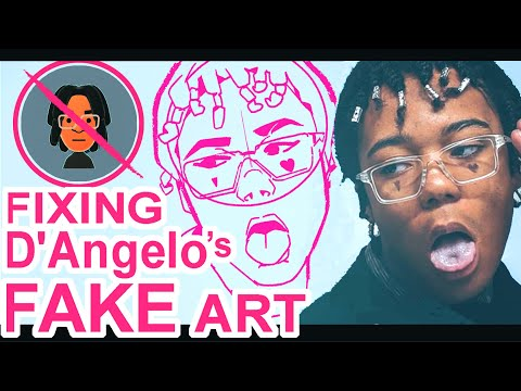 FIXING D'Angelo Wallace's FAKE Art