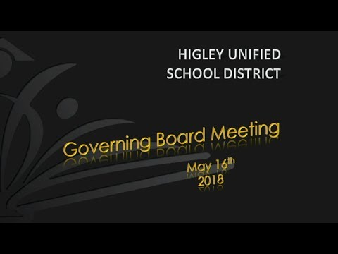 HUSD Governing Board Meeting May 16,  2018