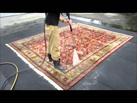 how to clean an oriental carpet part 9 the pressure wash youtube. Black Bedroom Furniture Sets. Home Design Ideas