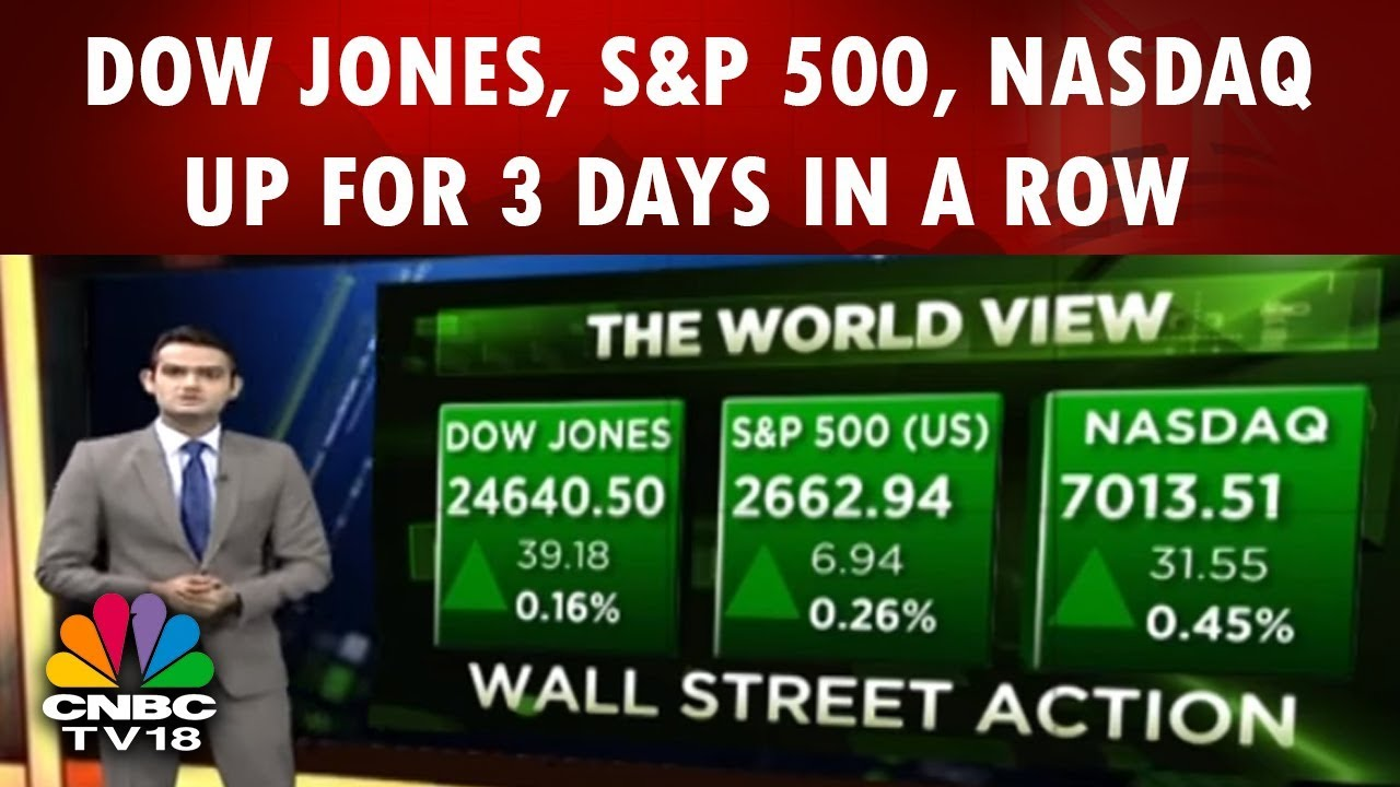 Dow Jones, S&P 500, Nasdaq Up for 3 Days in a Row | World View | 14th Feb |  CNBC TV18