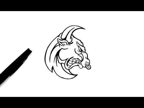 Comment Dessiner Un Taureau Youtube