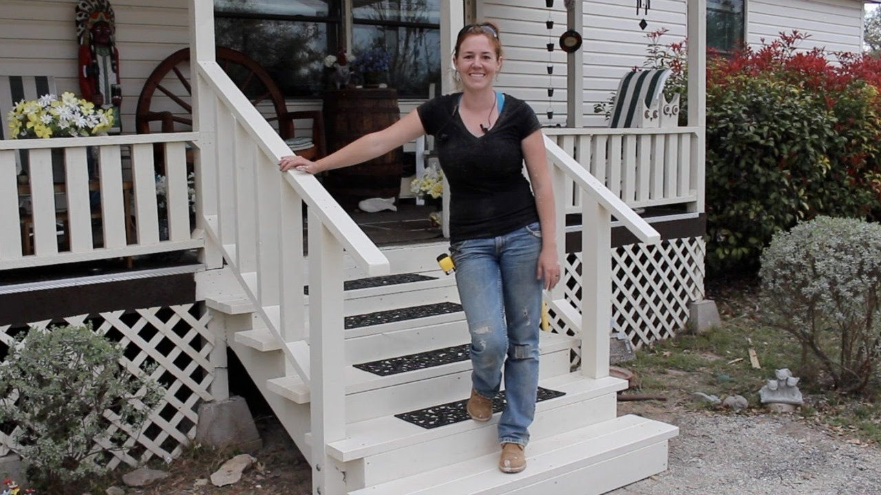 Building Front Porch Steps Wilker Do S | Handrails For Front Steps | Small House | Granite | Easy | Cast Iron | Wrought Iron