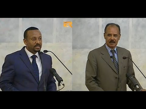 ERi-TV, Eritrea: Speeches by President Isaias Afwerki & PM Abiy Ahmed During State Dinner in Asmara