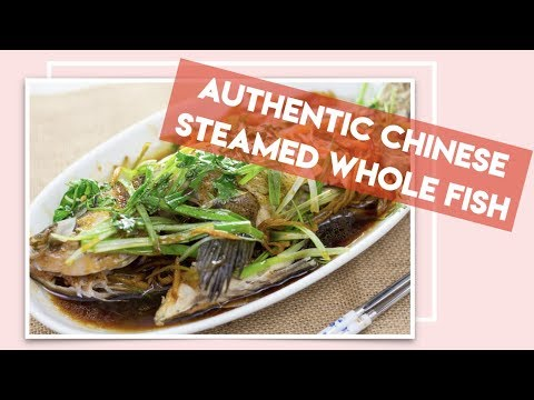 Authentic Chinese Steamed Whole Fish