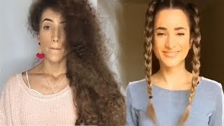 a3 amazing ideas for long hair 👌😋   by Braids in action
