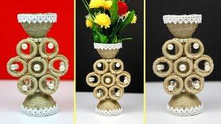 DIY Flower Vase Showpiece with Jute and Plastic bottle | Home Decoration using Jute| Jute Craft Idea