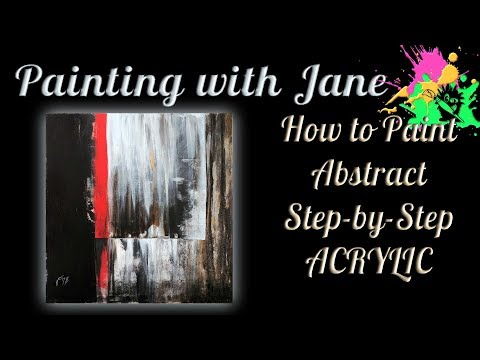 How to Paint Abstract Step by Step Acrylic Painting on Canvas for Beginners