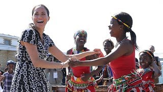 Meghan Markle tells South Africa: 'I am here as as a woman of colour and as your sister'